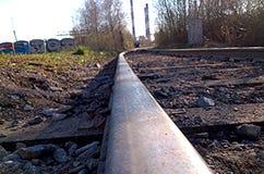 Verlaten spoorweg Royalty-vrije Stock Afbeelding