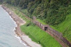 Verlaten spoorweg/oude spoorweg royalty-vrije stock foto's