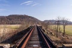 Verlaten Spoorweg - Spoormening stock foto