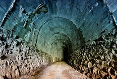 Verlaten Spoorwegtunnel Stock Foto's