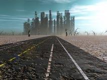 Verlaten stad stock illustratie