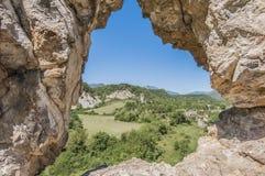 Verlaten stad van Janovas, Spanje Stock Foto's