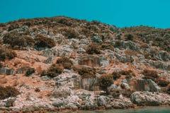 Verlaten stad van Turkije ruïne stock fotografie