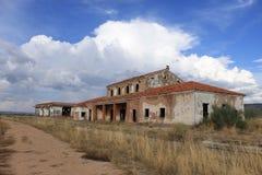 Verlaten station in Albacete stock afbeeldingen