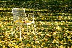 Verlaten stoel Stock Foto's