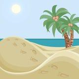 Verlaten strand vector illustratie