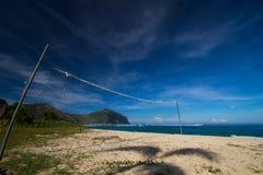 Verlaten strand Stock Afbeeldingen