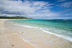 Verlaten strand stock afbeelding