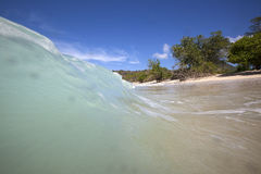 Verlaten strand Royalty-vrije Stock Fotografie