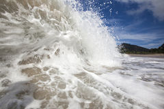 Verlaten strand Royalty-vrije Stock Foto's