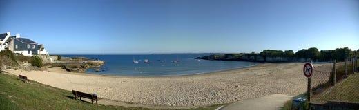 Verlaten strand in Bretagne Stock Fotografie