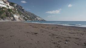 Verlaten strand in Positano stock footage