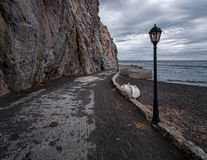 Verlaten stranden van Griekenland Santorini royalty-vrije stock foto's