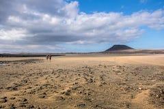 Verlaten stranden van het Eiland Graciosa Lanzarote Canarische Eilanden spanje royalty-vrije stock afbeeldingen
