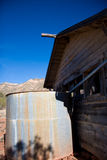Verlaten structuur in woestijn Royalty-vrije Stock Afbeelding