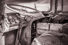 verlaten stuurwiel stock afbeeldingen