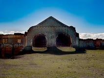 Verlaten Sugar Factory in Nerja, Spanje royalty-vrije stock fotografie
