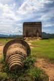 Verlaten tempel bij KANCHANABURI-Provincie van Thailand Royalty-vrije Stock Fotografie