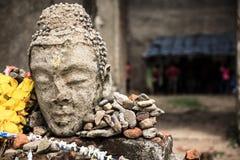 Verlaten tempel bij KANCHANABURI-Provincie van Thailand Stock Foto