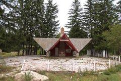 Verlaten terras in Soveja-toevlucht stock foto's