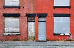 Verlaten Terrasvormig Huis Stock Afbeeldingen