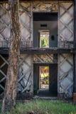Verlaten toevlucht op Contadora-Eiland stock fotografie