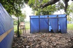Verlaten toiletten. Stock Afbeeldingen