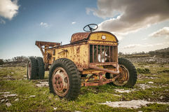 Verlaten tractor Royalty-vrije Stock Fotografie
