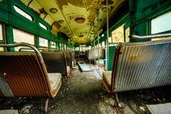 Verlaten Trams in Daling binnen Mening Royalty-vrije Stock Foto