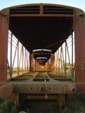 Verlaten treinauto's Royalty-vrije Stock Foto