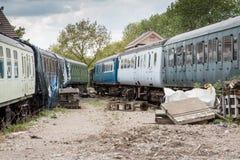 Verlaten treinen Royalty-vrije Stock Afbeelding