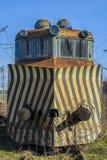 Verlaten treinlocomotief Stock Foto's