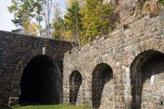 Verlaten tunnel op spoorweg Royalty-vrije Stock Foto