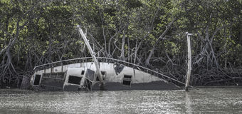 Verlaten Varend Jacht Stock Fotografie