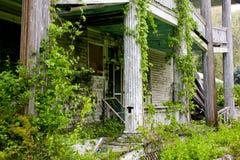 Verlaten victorian huis. Stock Foto's