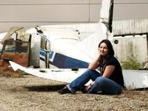 Verlaten vliegtuig stock foto