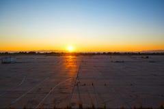 Verlaten vliegveld royalty-vrije stock foto's
