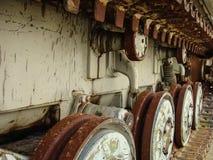 Verlaten voertuigen betrokken bij verwijdering van het ongeval van Tchernobyl royalty-vrije stock fotografie