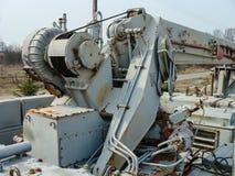 Verlaten voertuigen betrokken bij verwijdering van het ongeval van Tchernobyl royalty-vrije stock foto