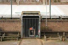 Verlaten voetbalstadion in Wageningen genoemde Wageningse Berg royalty-vrije stock foto