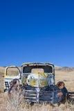 Verlaten Vrachtwagen stock foto's