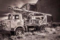Verlaten vrachtwagen stock afbeelding
