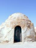 Verlaten woestijnhuis in Tozeur, Tunesië Stock Foto