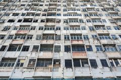 Verlaten Woningbouw stock foto