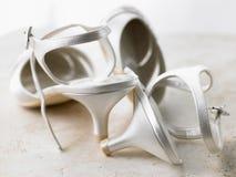 Verlaten Zilveren Hoge Hielen Royalty-vrije Stock Foto