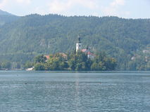 Verlaufener See stockbild