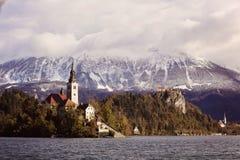 Verlaufener See, Slowenien Lizenzfreie Stockfotos