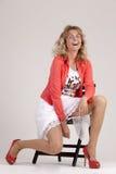 Verlegen vrouw Royalty-vrije Stock Afbeeldingen