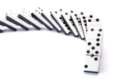 In Verlegenheit bringender gefallener Domino Lizenzfreies Stockbild