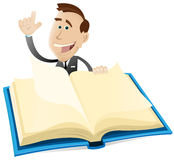 Verleger-Reklameanzeige lizenzfreie abbildung